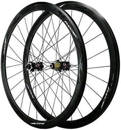 Bike Wheelset ストレートプルハブ24穴と7-12速度29inのために使用されるロードバイクホイールセットの700Cディスクブレーキ自転車の輪ダブルウォール合金リムC / Vブレーキサポートするために、