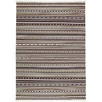 Ikea Rug, flatwoven, handmade gray 5  7 x7  10 , 228.8118.3834