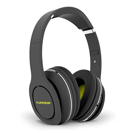 Amazon.com: PureGear PureBoom Wireless Bluetooth 4.1 Over Head Foldable Adjustable Stereo Over Ear Headphones w/ Built-in Mic and Wired Mode for PC/ Cell ...
