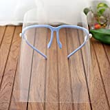 Tinksky Novelty Kitchen Cooking Double-sided Anti-fog Anti-Oil Splash Clear Face Mask Face Shield Protector (Blue)