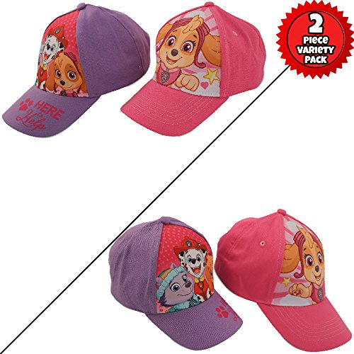 Nickelodeon Little Girls Paw Patrol Character Cotton Baseball Cap, 2 Piece Design Set, Age 2-7 (Little Girls – Age 4-7 (53CM)) by Nickelodeon (Image #4)