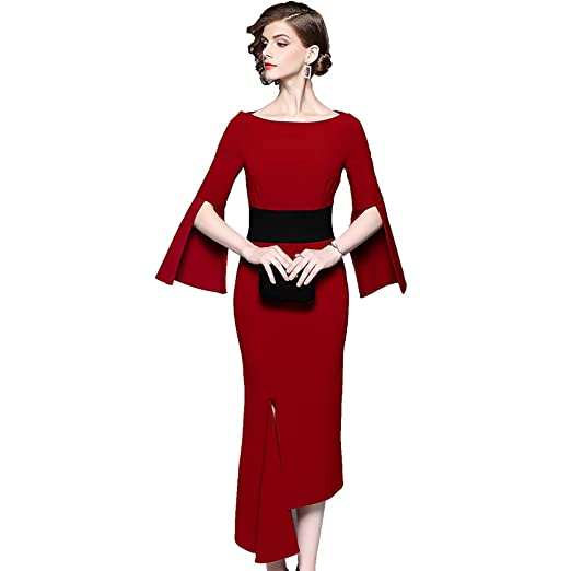 LXHG Vestido de Banquete para Mujer Nuevo Vestido Irregular ...