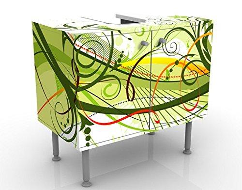 Apalis Design Vanity settembre 60x 55x 35cm, piccolo, largo 60cm, regolabile, lavandino, lavabo, rubinetto per lavabo da bagno, armadio, unità di base, bagno, narrow, Flat 53973