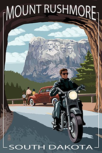 Mount Rushmore National Memorial, South Dakota - Tunnel Scene (16x24 Giclee Gallery Print, Wall Decor Travel Poster)