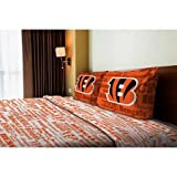 NFL Anthem Cincinnati Bengals Bedding Sheet Set: Full