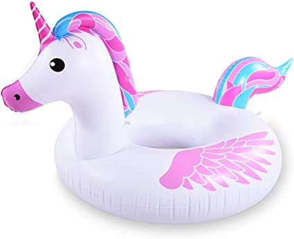 Amazon.com: HIWENA Inflable Unicornio Piscina Flotador ...
