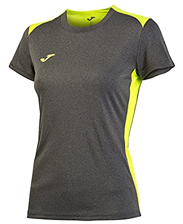 Joma T-Shirt Campus II muj. Gris Melange Clair M/C pour Femme