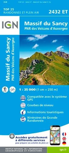 IGN Massif du Sancy - Carte topographique