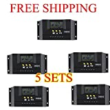 New MTN-G LCD 30A PWM Solar Panel Regulator Battery Charge Controller AL 5SETS