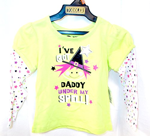 K-mart Halloween Green Tshirt I've Got Daddy Under My Spell 3T NWT -