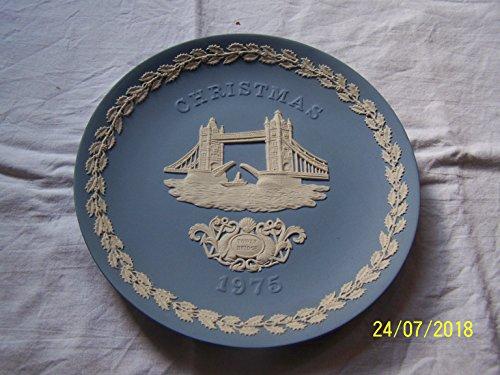 WEDGWOOD Jasperware Christmas Plate 1975-Tower Bridge