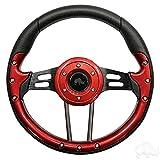 golf cart custom wheels - Aviator 4 Golf Cart Steering Wheel (Red)