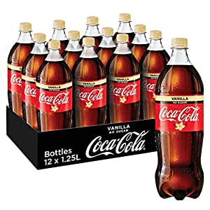 Coca-Cola No Sugar Vanilla Soft Drink, 12 x 1.25 l