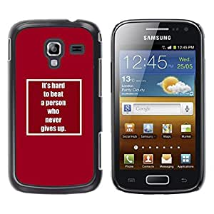 TaiTech / Hard Protective Case Cover - Up Inspiring Text Motivating - Samsung Galaxy Ace 2 I8160 Ace II X S7560M