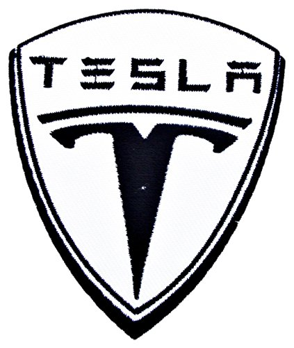 TESLA Motor Electric Cars Patch Sew Iron on Logo Embroidered Badge Sign Emblem Costume BY Dreamhigh_skyland