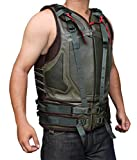 BV Baine Green Leather Spring Military Vest For Men - Eco Friendly PU Leather (XL)