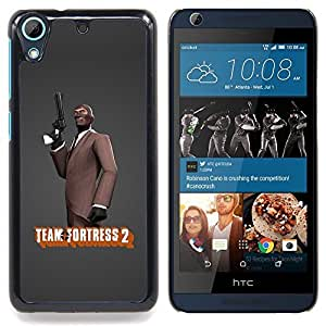 For HTC Desire 626 & 626s - cool bass suit gun fortress game /Modelo de la piel protectora de la cubierta del caso/ - Super Marley Shop -