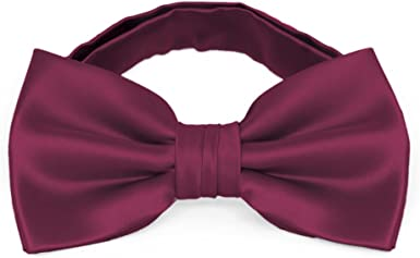 Solid Raspberry Kids Pre-Tied Bow Tie