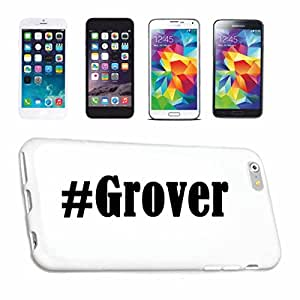 cubierta del teléfono inteligente iPhone 6 Hashtag ... #Grover ... en Red Social Diseño caso duro de la cubierta protectora del teléfono Cubre Smart Cover para Apple iPhone … en blanco ... delgado y hermoso, ese es nuestro hardcase. El caso se fija con un clic en su teléfono inteligente