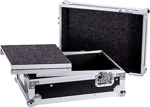 Ultimate Flight Case For One Rane Sixty Two Z Serato Controller Or Any Equal Size Mixer With Laptop Shelf Double Edge Tongue And Groove Impact Resistant Aluminum Frame DEEJAYLED TBHRN62LT