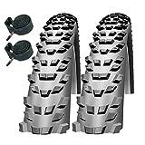 Impac Trailpac 26' x 2.10 Mountain Bike Tyres with Presta Tubes (Pair)
