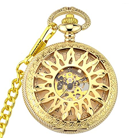 Pocket watch, mechanical watches,automatic, magnifier,retro, gifts, W0012 (Sangdo Automatic Watches)
