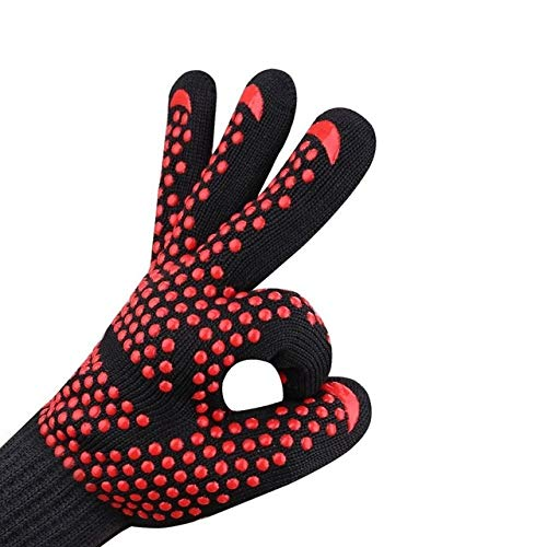 WUJIANCHAO 1hand bakewere Oven Mitts Gloves BBQ Silicon gloves High Temperature Anti scalding 500/800 Degree Insulation…