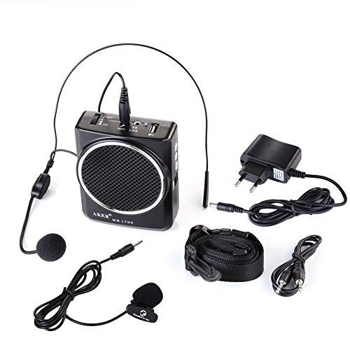 AKER MR 1700 Altavoz con auricular para hablar en público, batería 2000 mAh: Amazon.es: Electrónica