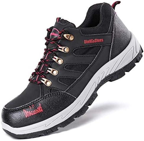安全靴 スチール足は、労働保険の靴、アンチスキッド通気性アンチスマッシング工場建設ブーツ、工事現場、(メッシュ、ゴム)をキャップ (Color : D, Size : 41)