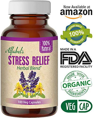 All Natural Stress Anxiety Depression Relief Herbal Supplement – Positive Mood – Calming – Sleep Aid – 100 Vegetable Capsules – Lavender, St. Johns Wort, Avena Sativa, Kava Kava, Ashwagandha