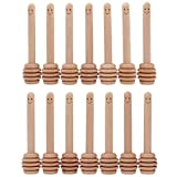 14 Pack - Mini Honey Dipper 3.2 Inch Wood Sticks with Cute Smile Face for Honey Jar Pot Dispense