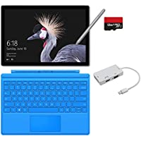 2017 New Surface Pro Bundle (5 Items): Core i7 8GB 256GB Tablet, Light Blue Type Cover (2016), New Surface Pen Platinum, 128GB Micro SD Card, Mini DisplayPort Adaptor
