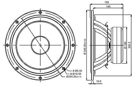 Amazon Com Sb Acoustics Sb34nrxl75 8 12 Woofer