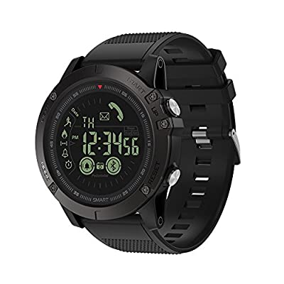 Maeffort Smart Watch, Outdoor Fitness Sport Smart Wrist Watch Bluetooth Waterproof IP67 Pedometer Calorie Counter for Android Samsung IOS Iphone X 7 Plus Smartphones Men Boys Kids Gifts