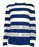 Versace Men's Stripe Logo Knit Sweater