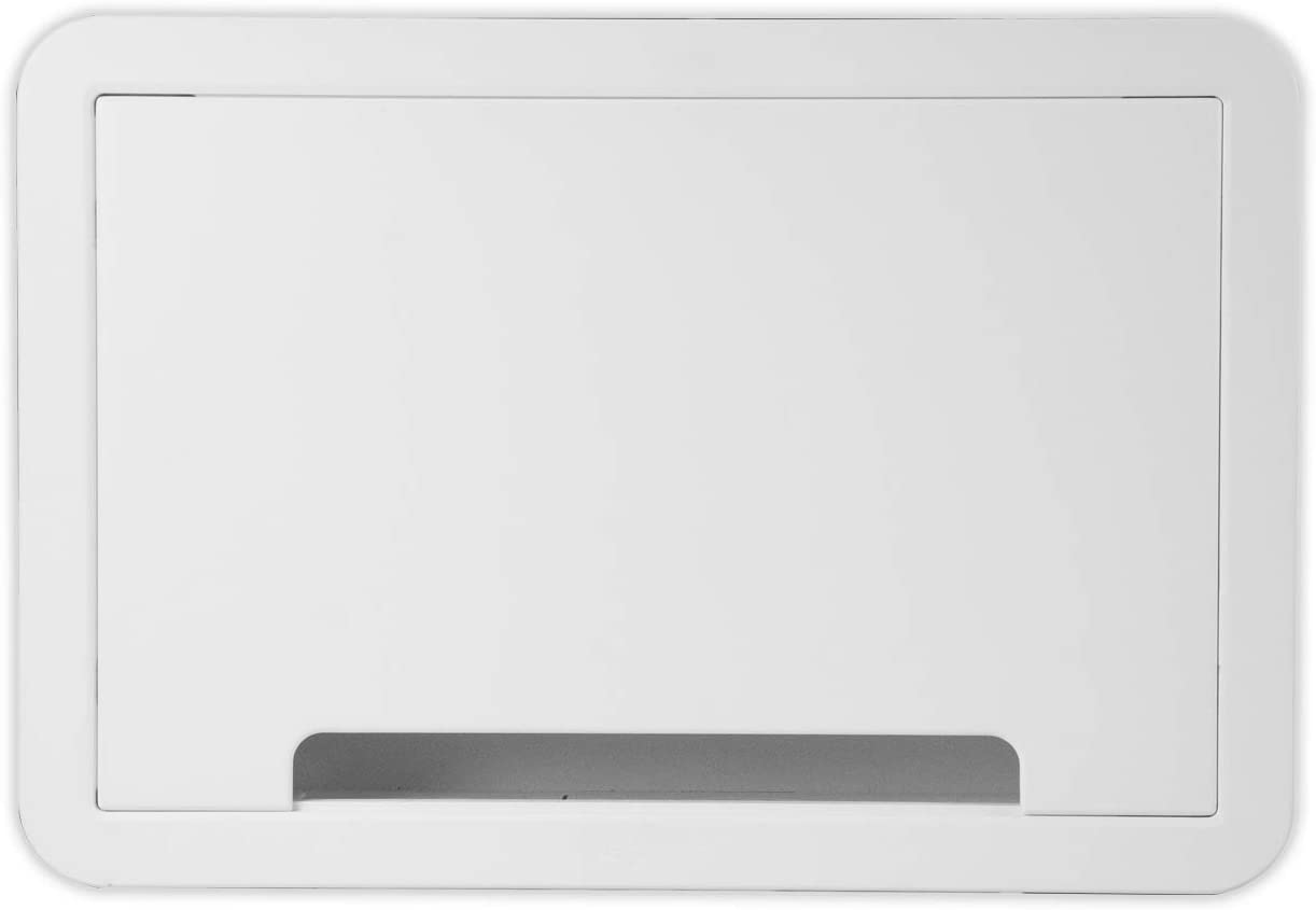 Legrand - OnQ Cable Management, Structured Media Enclosure, in-Wall Enclosure, TV Home Theater Box, Recessed Storage Box, Dual Purpose, 9 Inches, White (ENP0900-NA)