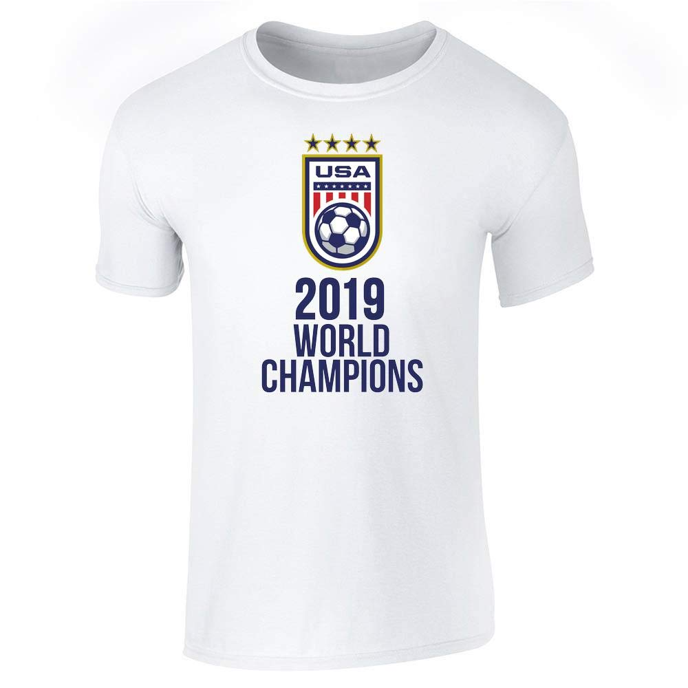Usa Soccer 2019 World Champions 4 Times Stars Short Sleeve Tshirt