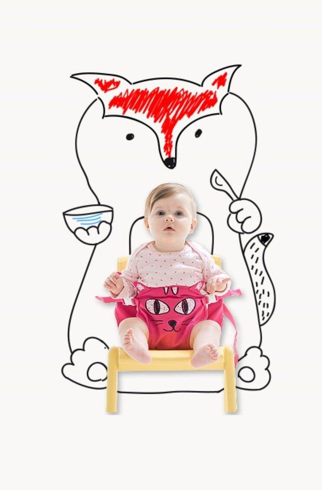 Yunimamang Kangaroobelt Baby Necessites Baby Seat Belt Toddler Safety Harness (Hot Pink Cat)