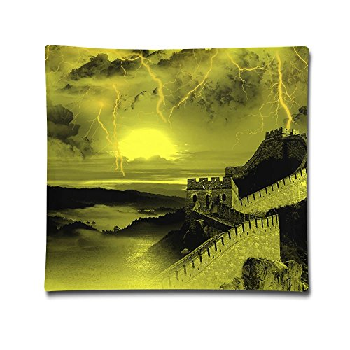 Phyllis Walker Pillow Shams Great Wall Lightning Strike Square Throw Pillow Case Cotton Decorative Pillowcase Cushion Cover For Sofa Bedroom 18