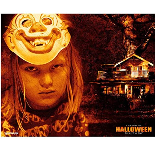 Halloween Daeg Faerch as young Michael Myers with mask promo 8 x 10 Inch Photo -