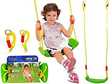Kingsports Columpio de jardín Columpio Infantil niños Swing Columpio Columpio balancín Tabla Jardín: Amazon.es: Juguetes y juegos