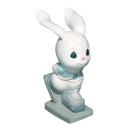 Charmant Precious Moments Skating Bunny Garden Statuary