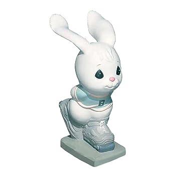 Precious Moments Skating Bunny Garden Statuary