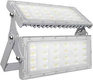 200W LED Flood Lights Outdoor, Daylight White 6000K LED Spot Light, IP66 Waterproof Stadium Light, Security Light, Work Light for Garden,Yard, Parking Lot, Stadium, Playground (200W)