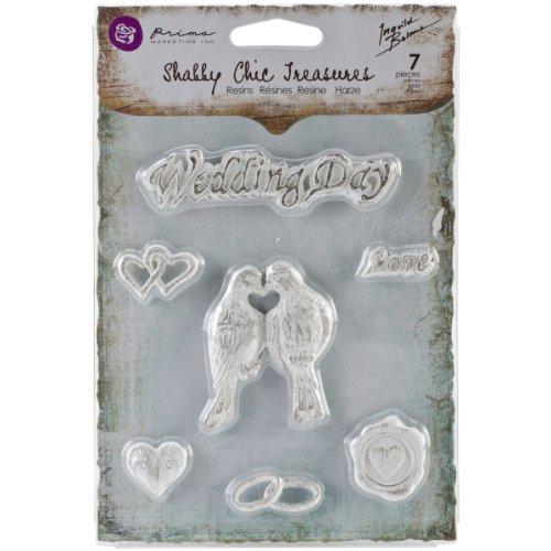 (Prima Marketing Shabby Chic Treasures Resin, Wedding, 7-Pack)