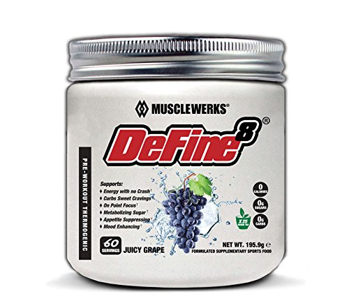 DeFine8 Juicy Grape – Fat Burner for Women and Men, Pre-Workout Thermogenic – New Advanced Formula, Appetite Suppressant, Boosts Metabolism Curbs Sweet Cravings for Weight Loss