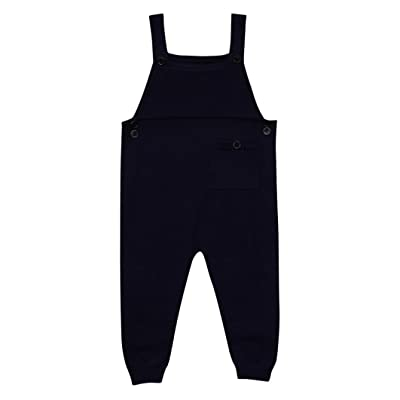Lisin Toddler Kids Baby Boys Girls Knitted Overalls Strap Rompers