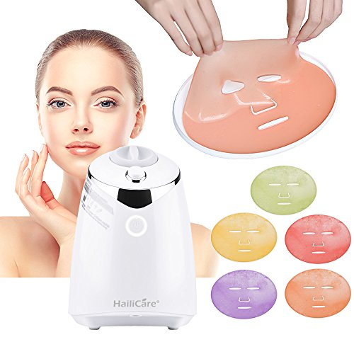 HailiCare Facial Mask Machine for Natural and Organic Face Masks - Smart Face Mask Maker - DIY Fruit Vegetable Masks with 32 Counts Collagen Tablets Effervescents (Full (Face Masks Diy)