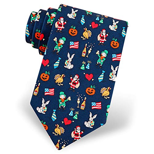 100% Silk Navy Blue The Every Occasion Holiday Necktie