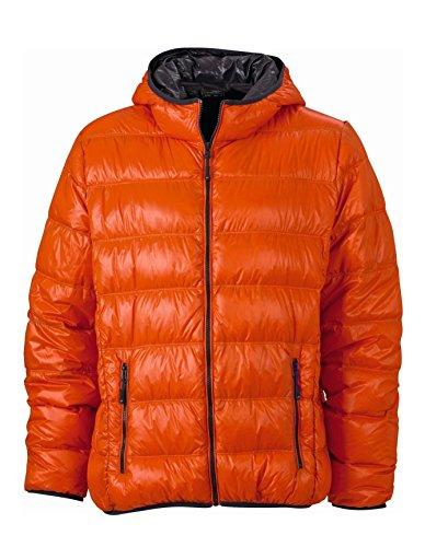 Down Jacket carbon Casual Sottogiacca Ultraleggera Stile orange Men's Uomo Con Cappuccio Dark 0618A6U